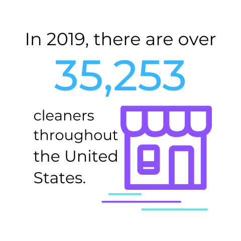 In 2019, there are over 35253 cleaners throughout USA